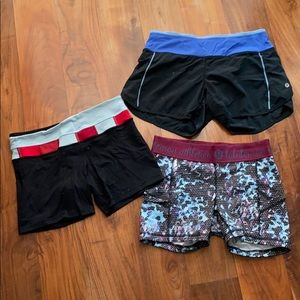 3 pairs of Lululemon shorts